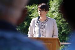 Gemeindepräsidentin Luzia Gisler dankt der Bürgler Bevölkerung und dem Verwaltungsrat der Biel-Kinzig AG