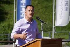 Kurt Schuler (Präsident Korporation Uri) während seiner unterhaltsamen Ansprache