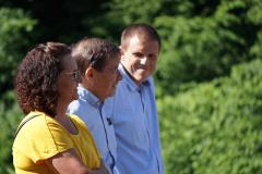 Cordula Schuler-Okle, Franz Steinegger und Bernhard Riedi sind zufrieden