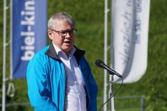 Landammann und Volkswirtschaftsdirektor richtet sich im Namen des Kantons an die Anwesenden